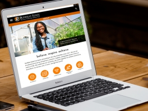 Buffalo State's New Website Hones Interactivity, User Experience
