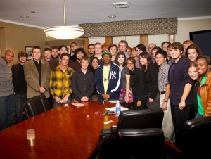Spike Lee Meets with Student Filmmakers