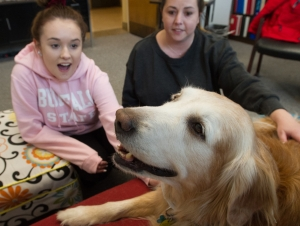 Therapy Dog Presents New Opportunity for Students