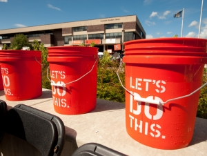 Students Affairs, Campus Offices Participate in ALS Ice Bucket Challenge