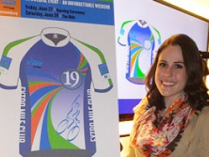 Student's Winning Design to Grace Ride For Roswell Jersey