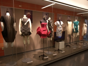 Chinese Fashion Exhibits on Display in Technology Building