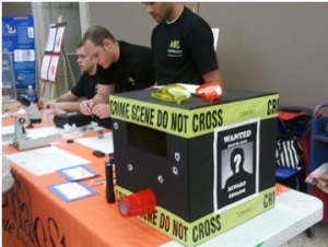 Students Engage Audiences with Forensic Science Exhibit