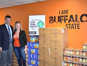 Chartwells and Milligan's Food Pantry Spread Food Insecurity Awareness