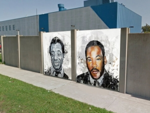 Graduate Students, Alumni Involved with Civil Rights Mural