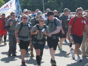 Alumnus Honors Fallen Veterans with Road March