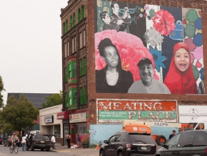 Art Students, West Side Community Contribute to Completed Mural