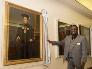 Ceremony Unveils Portraits of Buffalo State Presidents