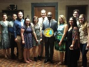 Buffalo State Travelers Present Mayor with Rwanda Gift