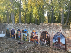 Students' Outdoor Murals Unveiled at Ellicott Island