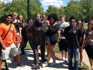 Bengal Tiger Statues Unveiled on Campus