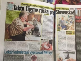 Novy Cas newspaper article featuring Bajus's father