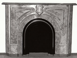 Marble mantelpiece from Twain's home in Buffalo