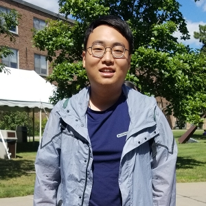 Hutong Fan outside in Perry Quad
